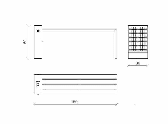Smart bench Qben Classic scheme
